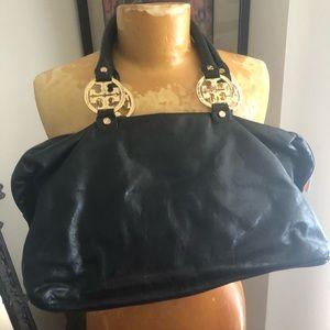 Tory Burch black leather bag purse